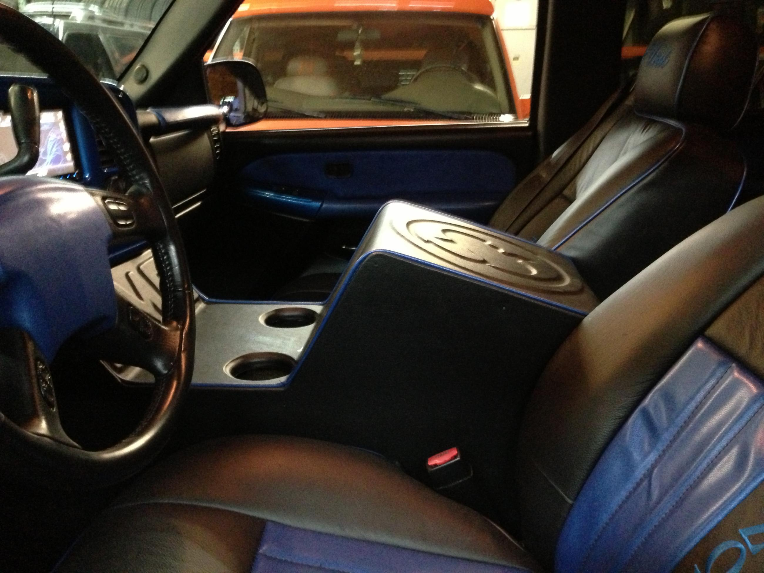 J&J: Custom-Fabricated Center Console with Sub-Woofers Customized Inside